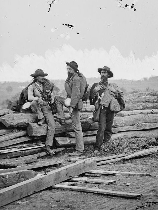 Three Confederate Prisoners from the Battle of Gettysburg - July 1863