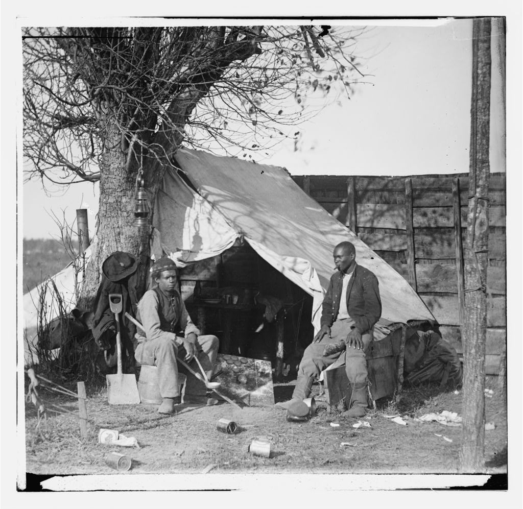 Contraband Slaves in Union Camp, Culpepper VA 1863