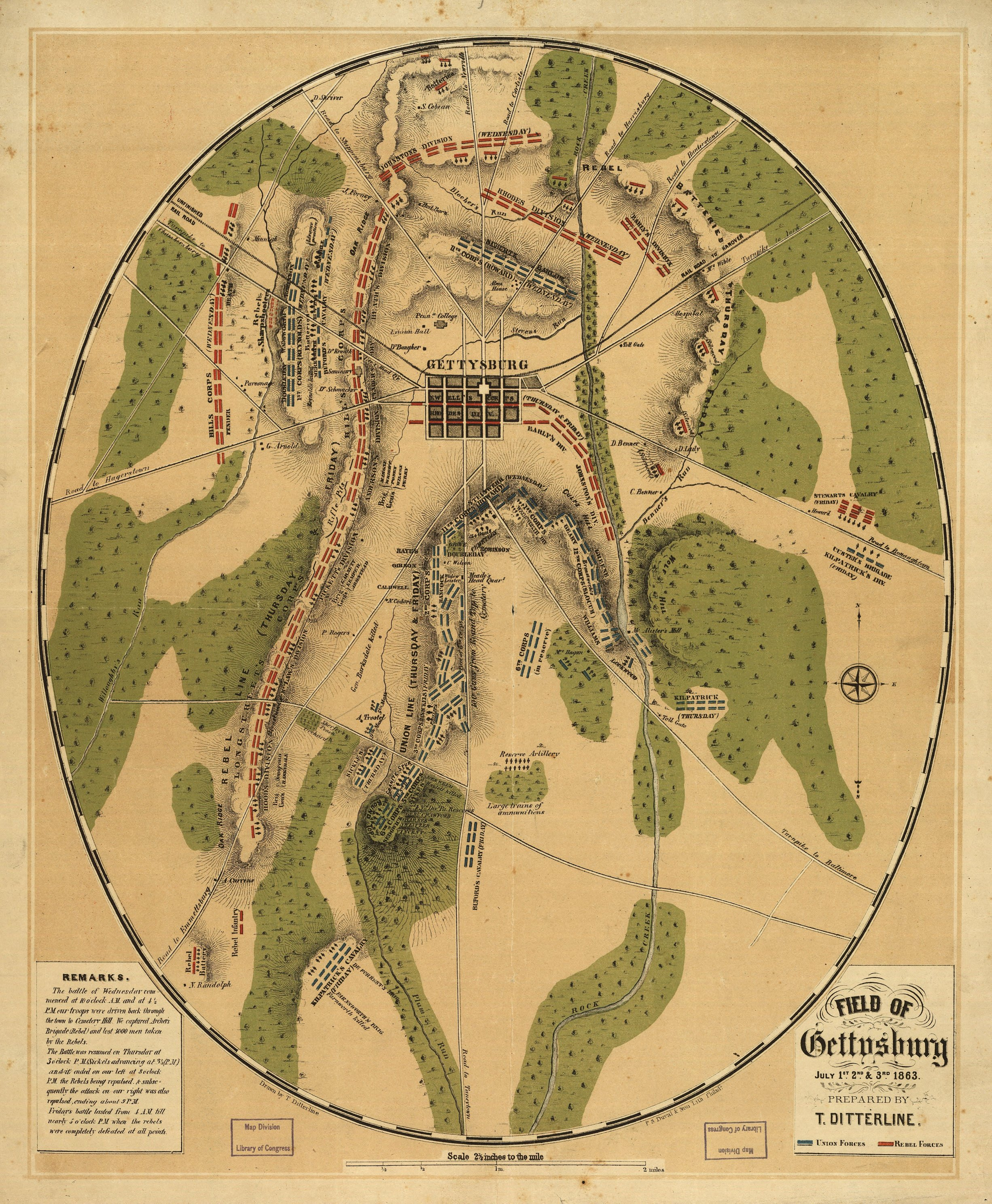 the cost of war in relation to the battle of gettysburg during the civil war in united states Information about historical materials related to the american civil war that have been  civil war, 1861-1865  into service of the united states during the.